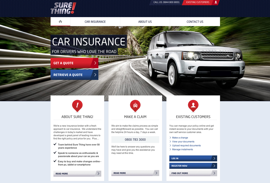 sure thing insurance Sure thing are a new insurance broker on the scene with a fresh approach to car insurance we understand the challenges in today's market and have developed a great panel of insurers to.