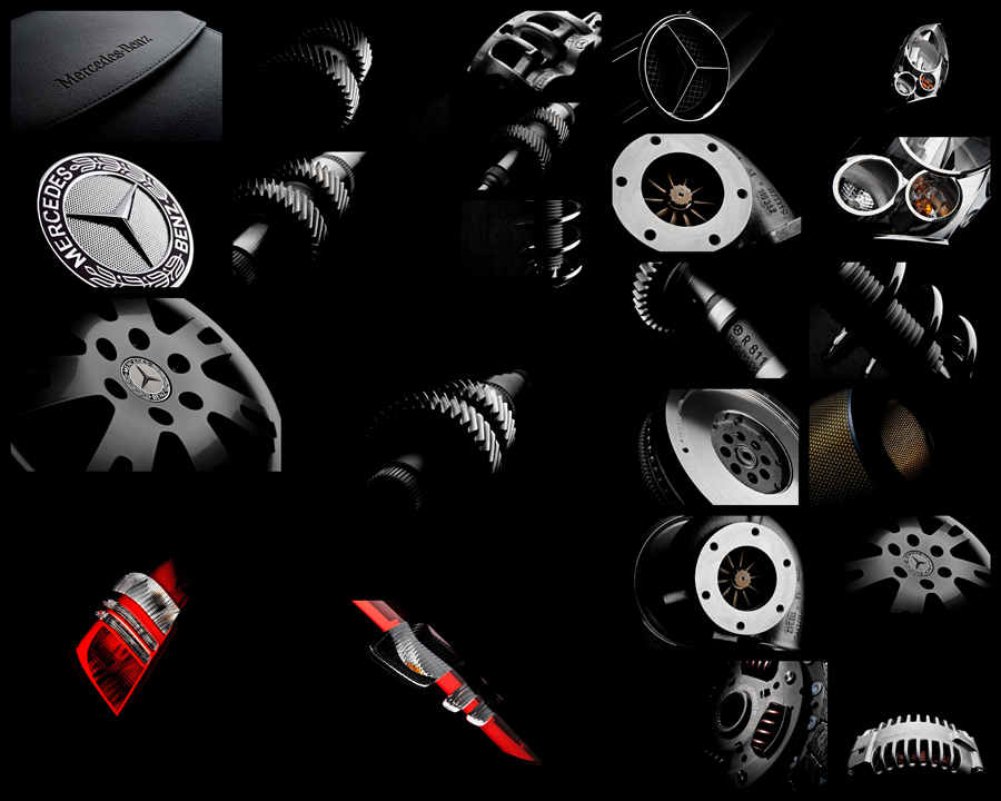 ... He Worked To Produce A Set Of Images That Will Be Used In A 2011 Mercedes  Parts Campaign Relating To The Quality And Value Of Mercedes Parts In  Europe.