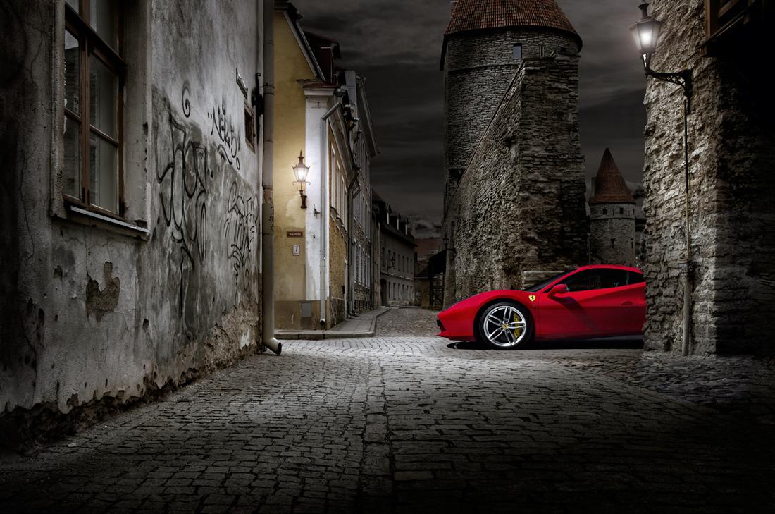 car photographer, ferrari, street, studio photography, car photograph, commercial photography, tim wallace
