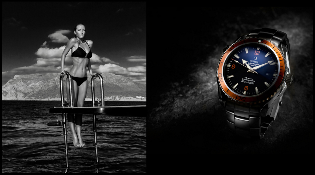 super yacht and watch, commercial photography, tim wallace