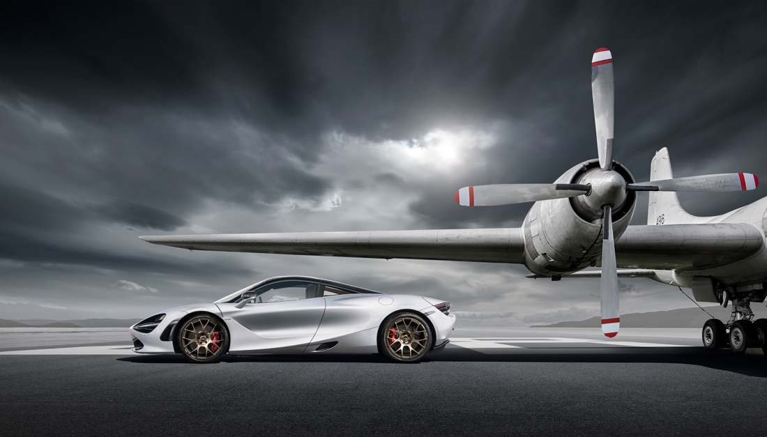 car photographer, mclaren, airfield, plane car photograph, commercial photography, tim wallace