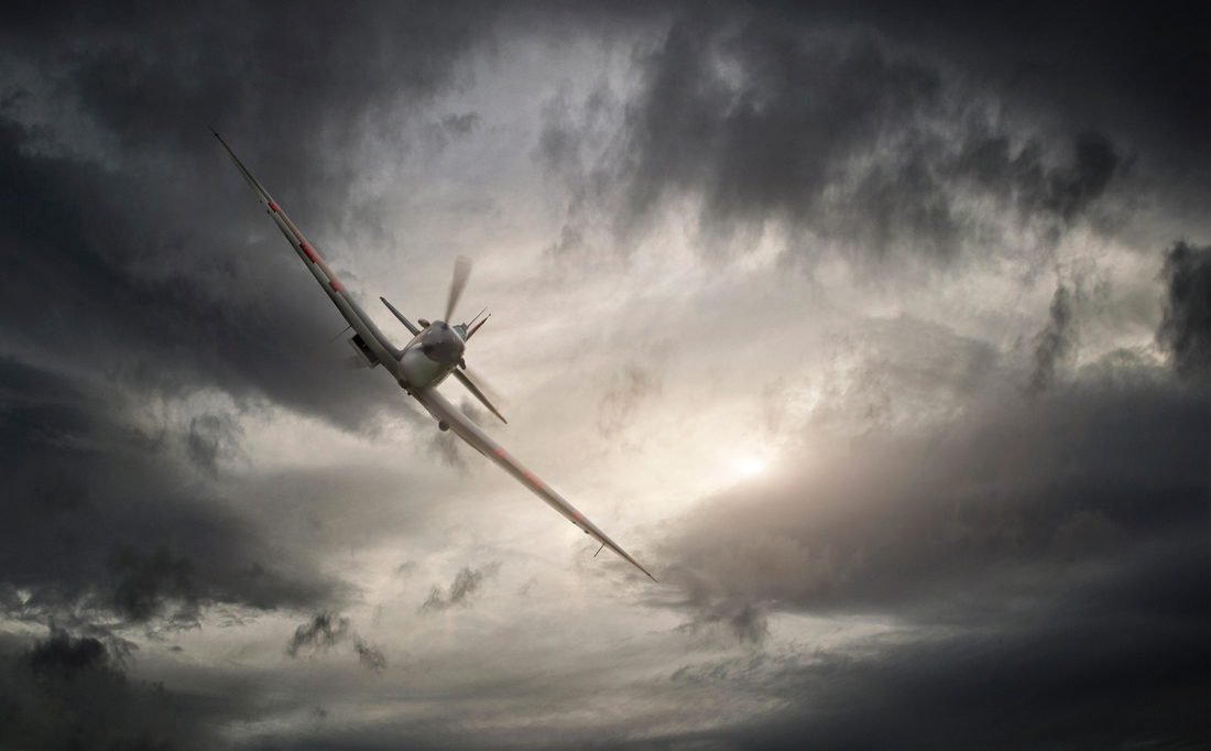 spitfire in flight, aircraft military, aviation photography, commercial photography, tim wallace