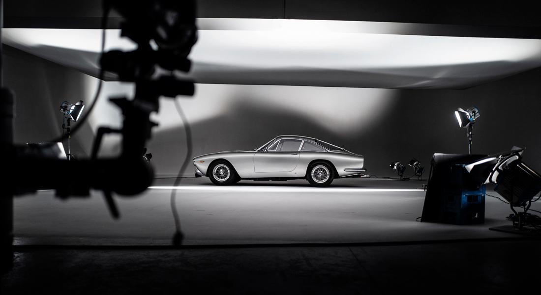 car photographer, ferrari, behind the scenes, studio photography, car photograph, commercial photography, tim wallace