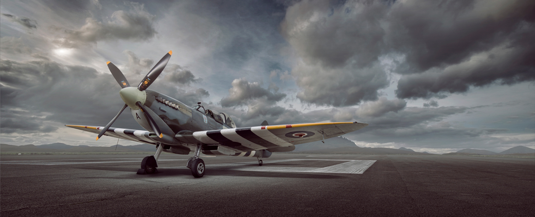 spitfire on runway, classic aircraft, warbird, aircraft photography, aviation photography, commercial photography, tim wallace