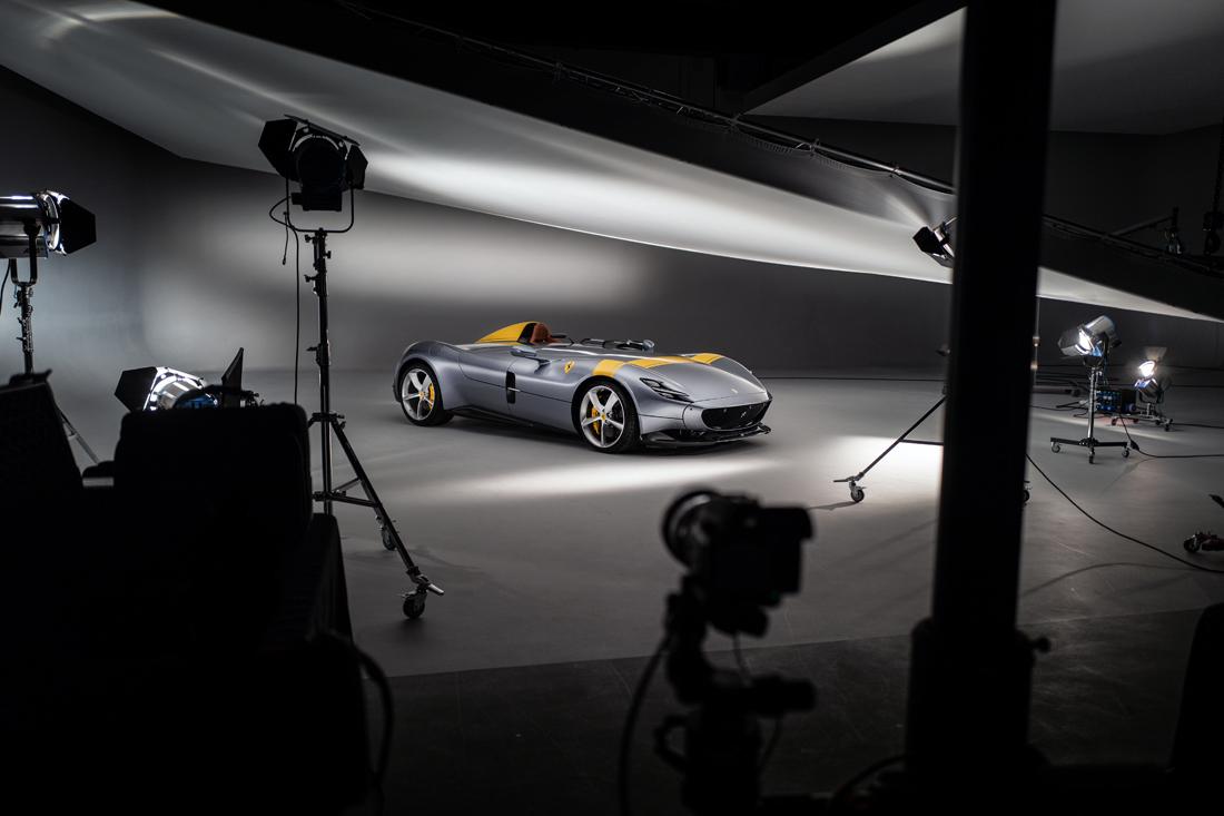 car photographer, BTS, studio, ferrari, car photograph, commercial photography, tim wallace