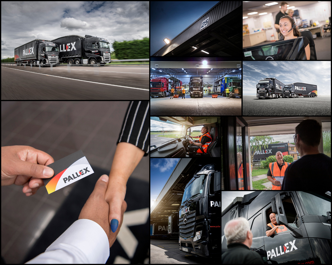 logistics photography, pallex truck, supply chain, logistics photographer, professional truck photograph, commercial photography, tim wallace