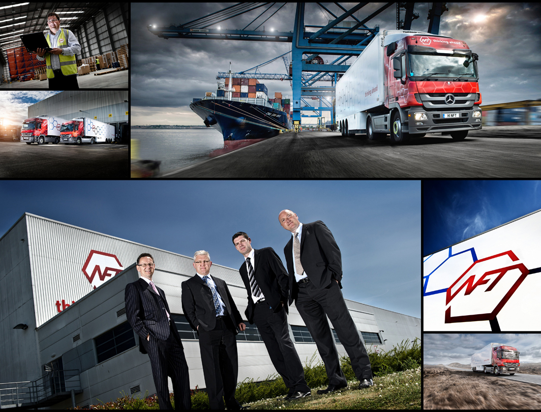 NFT Logistics, brochure, logistics photography, supply chain, photography, truck photography, commercial photography, tim wallace