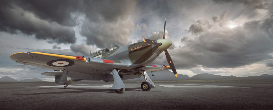 warbird, hurricane, fighter, WWII, aircraft photography, aviation photography, commercial photography, tim wallace