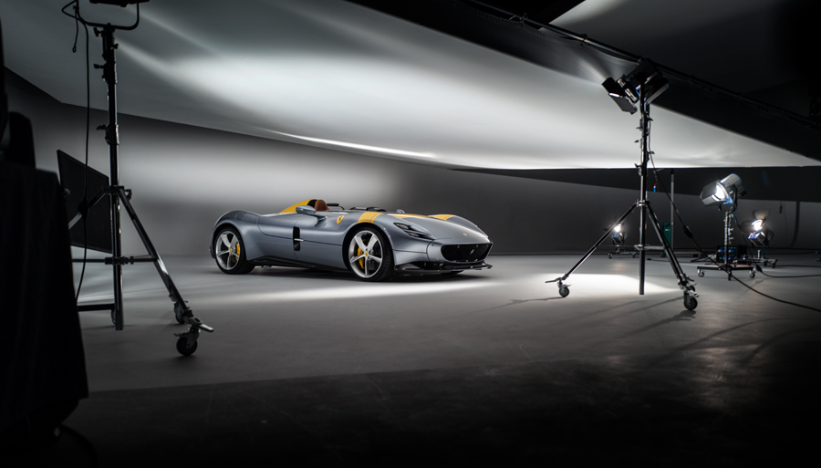 ferrari, car, BTS, studio, ferrari photography, car photographer, advertising photography, commercial photography, ambientlife, tim wallace